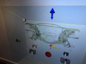 Laser scanned
